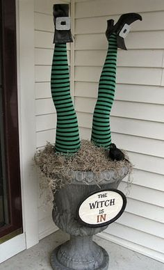 Witch legs Halloween Decoration