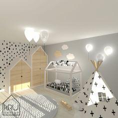 Pokój dziecięcy, pokój chłopca, styl skandynawski, łóżko-domek, wigwam, tipi, więcej na: www.krudesign.pl #pokojdzieciecy #pokojchlopca #stylskandynawski #lozkodomek #cottonballs #tipi #wigwam #childrensroom #kidsroom #babyboy #balloons #lapm #lampabalon #interiors #interiordesign #projektowaniewnetrz #architektwnetrz #toys #homedecor #walldecorations #carpet #wooddesign #kids #furniture #bed #bedroom