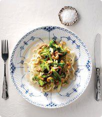 Opskrift Thai wok med skinkestrimler og blommer.
