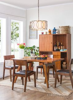 2016.3 SoHo Dining Room, Hans Timber Dining Table ★ Creative Co-Op Home