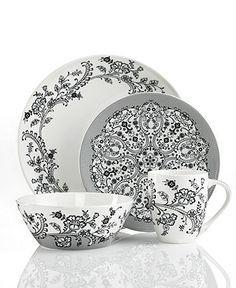 Classics, love it Oleg Cassini Dinnerware, Ava Collection - Casual Dinnerware - Dining & Entertaining - Macy's