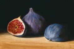 Three Figs by Tanja Moderscheim. Self-taught, Dutch oil painter.