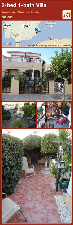 2-bed 1-bath Villa in Torrevieja, Alicante, Spain ►€89,000 #PropertyForSaleInSpain