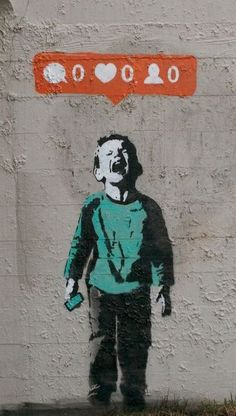 Banksy, no digital friends