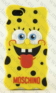 iPhone 6 Silicone Case Moschino Spongebob  Изработено от висококачествен силикон. Лесен за поставяне. 100% пластичност с висока експлоaтационна трайност