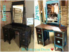 Antique Vanity Refinishing..A $35 Garage Sale Find!  Stunning!