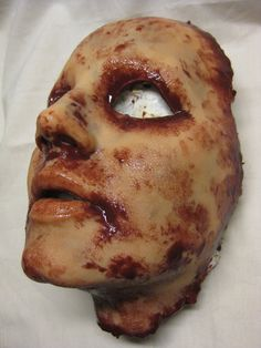 Possible Halloween 2013? Skinned Horror Face Mask  Krystal  by shoggothassembly on Etsy, $55.00