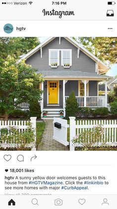 A Sunny Yellow Door Welcomes Guests To This House From Click The See More Homes With Major
