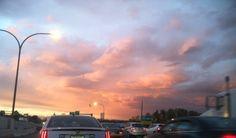 #sunset on my way home, beauty over providence, rhode island