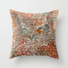 $5 OFF today ONLY use code THROW5 The Odd-Eyed Owl by www.colmitchell.com as a high quality Throw Pillow. Worldwide shipping available at Society6.com. Just one of millions of products available.