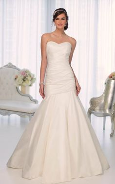 D1636 Strapless Wedding Dresses by Essense of Australia