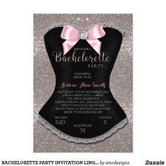 BACHELORETTE PARTY INVITATION LINGERIE PARTY