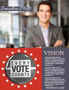 city campaign election poster template