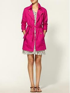 MICHAEL Michael Kors Belted Classic Trench Coat in Hot Pink| Piperlime