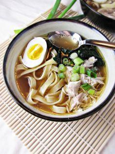 Homemade Ramen by katieatthekitchendoor. Recipe by  Nancy Hachisu #Soup #Ramen