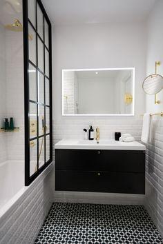 Master Bathroom Renovation Ideas : Designs, Tips, & Details Laundry In Bathroom, Bathroom Inspo, Bathroom Faucets, Bathroom Inspiration, Modern Bathroom, Small Bathroom, Master Bathroom, Compact Bathroom, Bathroom Colors