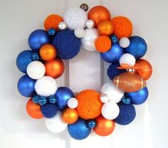 Blue and Orange Christmas. David Bromstad used these colors to do a holiday makeover for a family before.
