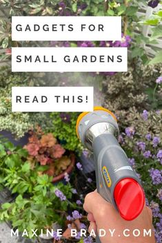 Is your small garden missing one of these 3 nifty tools? Garden Gadgets, Garden Tools, Garden Ideas, Mini Shed, Hose Storage, Kitchen Waste, Paving Stones, Interior Stylist, Summer Is Here
