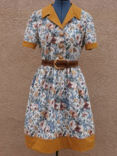 Floral Homemade 50s Style Secretary Dress from by mablerose, $35.50