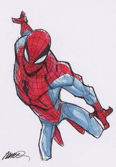Spider-Man by Humberto Ramos  Damn, that dynamic foreshortening <3