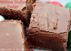 Today I am sharing my Million Dollar Fudge. If you know your fudge, you are going to LOVE this recipe. This fudge is so creamy and with just the right amount of crunch. Fudge Recipes, Candy Recipes, Dessert Recipes, Dessert Ideas, Sweet Recipes, Yummy Recipes, Just Desserts, Delicious Desserts, Yummy Food