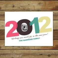 2012 New Year's card $15