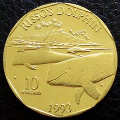 1993 Marshall Islands $10 Rissos Dolphin Proof Coin Whales & Dolphins Listing in the Other,Australasia,Coins,Coins & Banknotes Category on eBid United Kingdom | 147566801