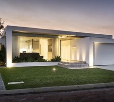 The Stirling - contemporary - Exterior - Other Metro - Grandwood by Zorzi Custom Built Homes, Custom Home Builders, Small House Design, Modern House Design, Modern Exterior, Exterior Design, Single Storey House Plans, Modern House Facades, Modern Contemporary Homes