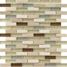 Tile for kitchen back splash? Love the contrast of stone and glass together