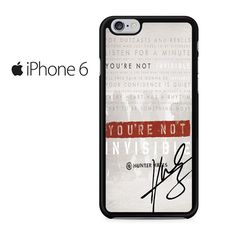 Invisible Hunter Hayes Lyric Quotes With Signature Iphone 6 Iphone 6S Case