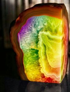 Rainbow Rock...how awesome is that?! Coolest rock i've ever seen!