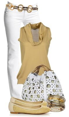 White & Mustard Outfit