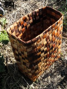 A plaited pack basket I made from birch bark.