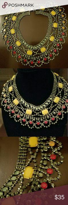 BCBG MAX AZRIA MULTI GEM STONE STATEMENT NECKLACE BCBG MAX AZRIA MULTI GEM STONE STATEMENT NECKLACE.  BRAND NEW, NEBRR USED ,NO TAG BCBG MAX AZRIA  Jewelry Necklaces