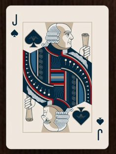 FOUNDERS playing cards - infamous for failure to print and deliver to its backers on Kickstarter.  Here is John Adams....see current HOUNDERS playing card parody deck on Kickstarters.
