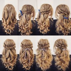 14 Different New Braid Hair Styles, 14 verschiedene neue Zopffrisuren, This image has. Easy Hairstyles For Long Hair, Braided Hairstyles, Wedding Hairstyles, Crazy Hairstyles, Fashion Hairstyles, Pretty Hairstyles, Communion Hairstyles, Fall Hairstyles, Dance Hairstyles