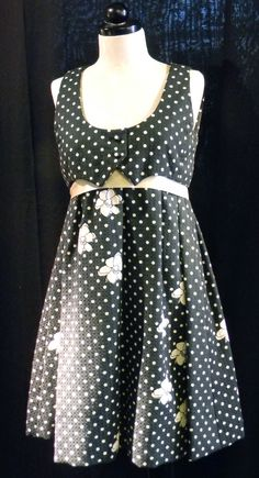 Vintage 1960s rare Geoffrey Beene black and white mini tent dress. Want to see more items from Malena's? Click here! http://www.facebook.com/pages/Malenas-Vintage-Boutique/108140039212177