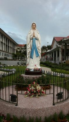 ~This Rosary Garden in Singapore was Officially Opened and Blessed by His Grace Archbishop William Goh on the Solemnity of the Annunciation of the Lord. Blessed Mother Mary, Blessed Virgin Mary, Catholic Religion, Catholic Saints, Madonna, Our Lady Of Lourdes, Queen Of Heaven, Mama Mary, Holy Rosary