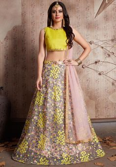 Get Yellow Lehenga for haldi and wedding ceremonies at Mirraw. Exclusive range of Yellow Lehenga Designs with lowest cost in USA, UK Indian Lehenga, Bollywood Lehenga, Net Lehenga, Lehenga Choli Online, Bridal Lehenga Choli, Lehnga Dress, Ghagra Choli, Lehenga Blouse, Anarkali