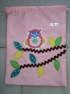 Bolsa de merienda infantil patchwork