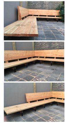 Lounge bench garden bench - #bank #Loungebank #tuinbank #bank #bench #garden #Gartendekoideen #lounge #loungebank #tuinbank