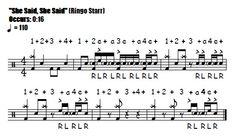 She Said, She Said Fill 0:16 Beatles & Ringo Starr - Drum Fill Transcription