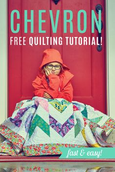 Love this Chevron quilt! I can't believe how easy this version is to make! Free Video Tutorial!