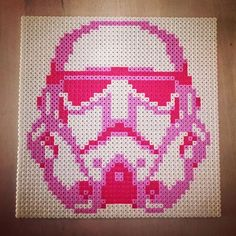 Pink stormtrooper - Star Wars hama beads by annasthlm