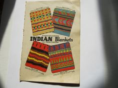 Vintage Native American Indian blanket ad from 1920s. $25.00, via Etsy.