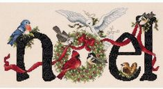 Janlynn 14 Count Noel Counted Cross Stitch Kit, by Cross Stitch Love, Counted Cross Stitch Patterns, Cross Stitch Designs, Cross Stitch Embroidery, Theme Noel, Noel Christmas, Xmas, Christmas Embroidery, Embroidery Kits
