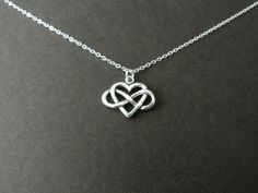 Infinity Love, Infinity Heart Necklace, Infinite Love, Forever Jewelry, Infinity Charm, Forever and always, Sterling Silver