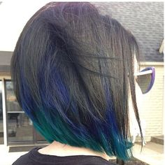 There is a new hair color trend in 2019 and it really has the wow factor. Peacock hair color is set to be big for the summer so check out some of the best looks Black Hair With Highlights, Color Highlights, Hair Highlights, Black Hair Blue Tips, Purple Hair, Purple Peekaboo Hair, Blue Peekaboo Highlights, Purple Streaks, Ombré Hair