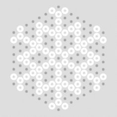 hama bead snowflake patterns - this is just one of many