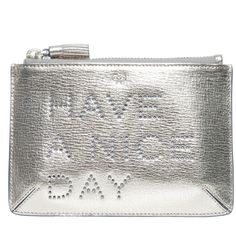 ANYA HINDMARCH Loose Pocket Pouch (5.555 CZK) ❤ liked on Polyvore featuring bags, handbags, clutches, accessories, real leather purses, white leather handbags, city bag, leather pocket pouch e pocket purse